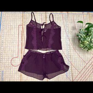 La Vie en Rose cami and tap pant set size XL